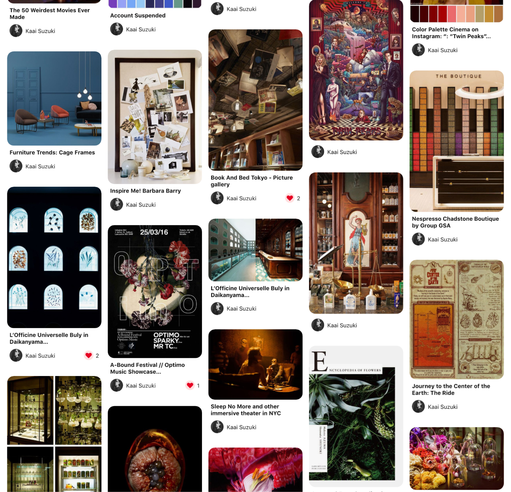 screenshot of second moodboard - taste of Wunderkammer